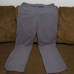 Ashley Stewart gray size14 w dress slacks